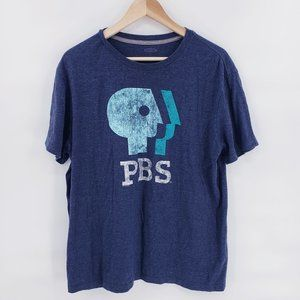 "Vintage Old Navy ""PBS"" Navy T-shirt"